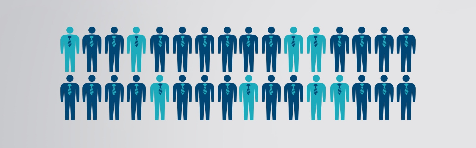 Illustrated people in two rows