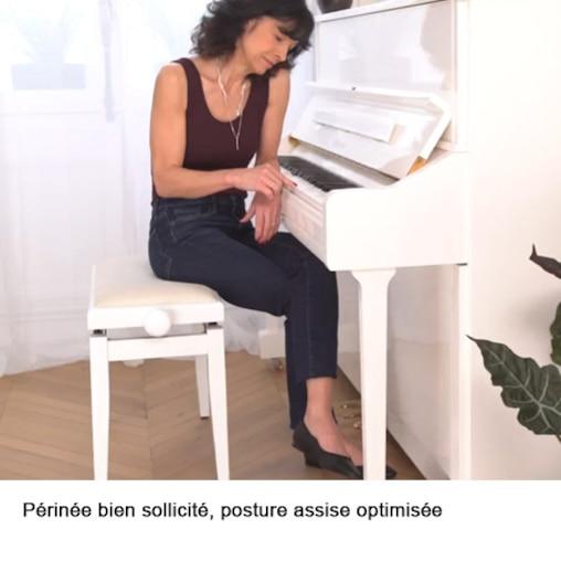 Périnée bien sollicité, posture assise optimisée