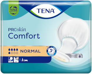 TENA Comfort Normal - Large shaped incontinence pad for Skin Health