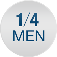 One in four men