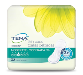 TENA® Serenity® Moderate Thin Incontinence Pads Long