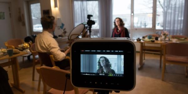 Behind the scenes filminspelning