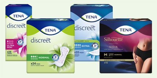 Explore the TENA range for women