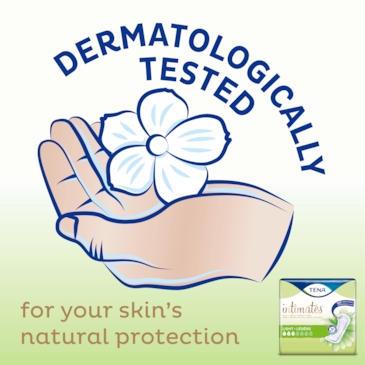 TENA Intimates Ultra Thin Pads are dermatologically tested