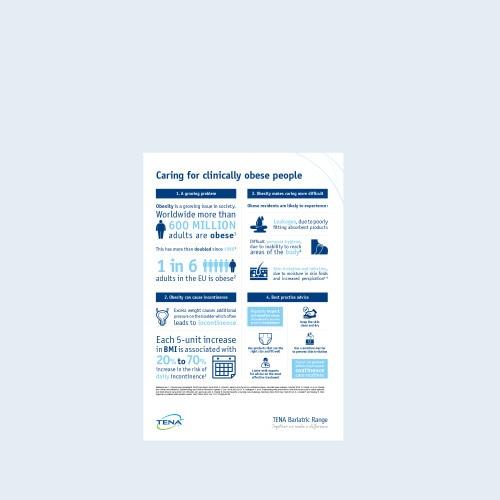 TENA Adipositas-Informationsblatt für Fachkräfte