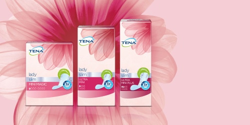 TENA's Lady Slim Mini Magic, Ultra Mini and Mini Plus