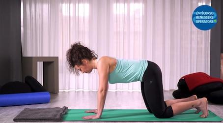 Allungamento dorsale estesione in ginocchio