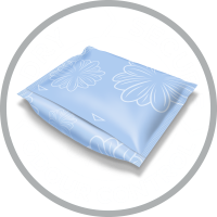 La protection absorbante TENA Discreet est emballée individuellement