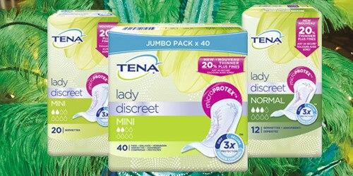 Gamme de produits TENA Lady Discreet