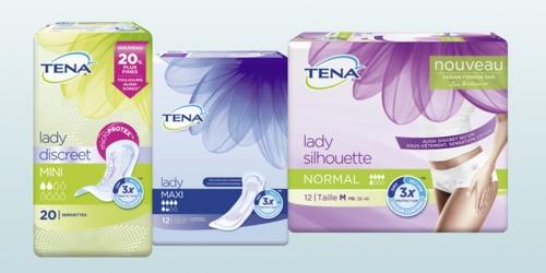 Gamme de produits TENA pour femmes