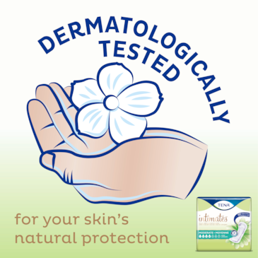 TENA Intimates Moderate pads are dermatologically tested
