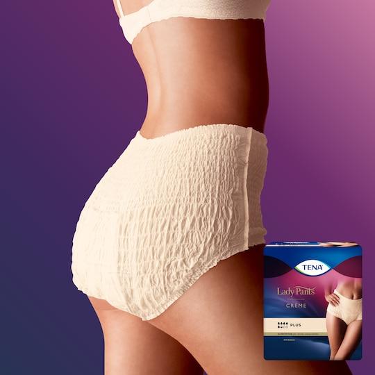 TENA Lady Pants Plus High Waist Crème - Incontinence underwear