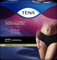TENA Silhouette Normal Cintura Baja Noir: ropa interior para la incontinencia con un elegante diseño en negro