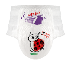 Libero UP & GO Pant with a ladybug on the front