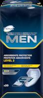 Protetor Absorvente TENA MEN Level 2 – proteção masculina para perdas de urina e incontinência médias a moderadas