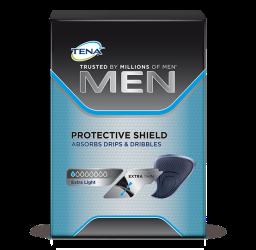 TENA Men Protective Shieldinkontinensskydd för män med små urinläckage, droppläckage och efterdropp