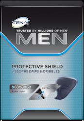 TENA Men Protective Shield urīna nesaturēšanas ieliktnis pret nelielām urīna noplūdēm, pilēm un pilēšanu
