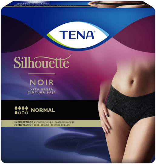 TENA Silhouette Normal Noir Vita bassa – Mutandine assorbenti femminili
