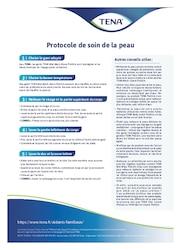 Aperçu du modèle du simple protocole de soins de la peau TENA pour les aidants familiaux