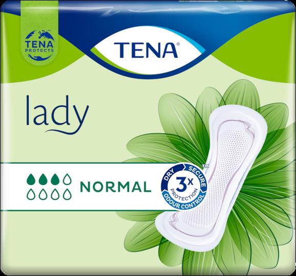 TENA Lady Normal | Angenehm weiche und sichere Einlage bei Blasenschwäche für Frauen