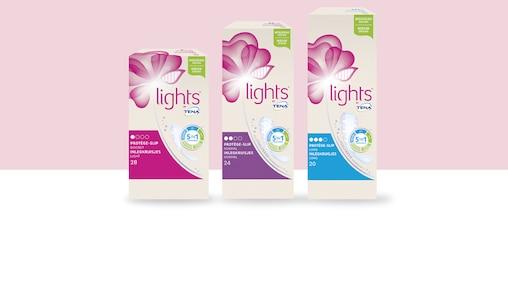 lights by TENA -tuotteet.