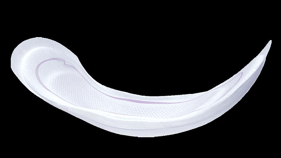 A zona anatómica de secagem DRYZone foi concebida para uma absorção superior e prevenção de perdas de urina