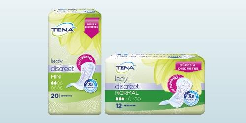 Photo de deux produits TENA Lady Discreet