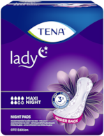 TENA Lady Maxi Night | Night time incontinence pad for women