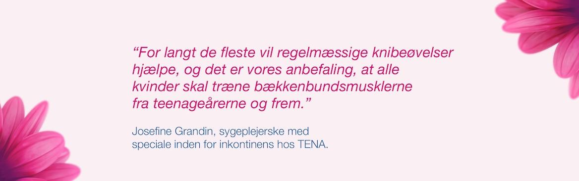Josefine Grandin, sygeplejerske med speciale i inkontinens hos TENA.