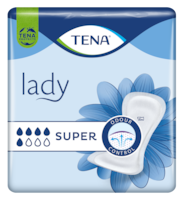 TENA Lady Super | Myke og sikre bind for urinlekkasje, for kvinner