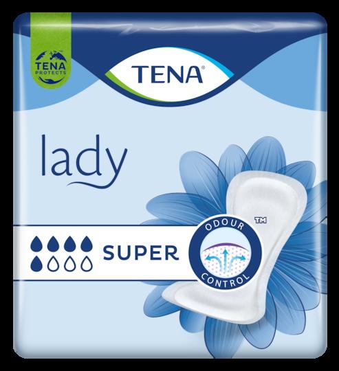 TENA Lady Super | Mjukt och säkert inkontinensskydd för kvinnor