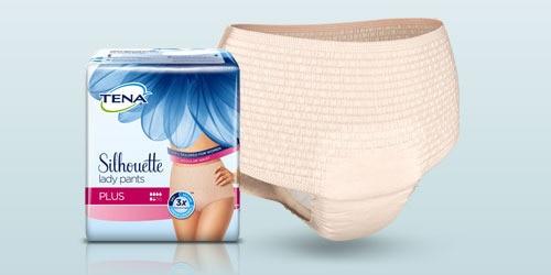 """Naujosios """"TENA Lady Pants Plus"""" kelnaitės, gaminio nuotrauka"""