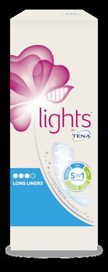 lights by TENA Long Liner förpackning