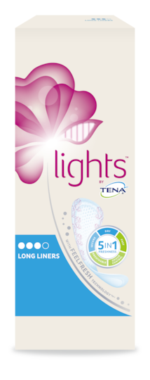 lights by TENA Long Liners-pakke