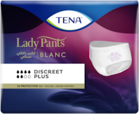 TENA Discreet Plus High Waist Blanc - women´s incontinence underwear in white