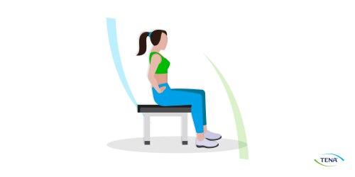 Beckenbodengymnastik Übung 1 sitzend
