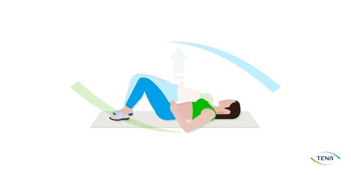 Beckenbodengymnastik Übung 2 liegend