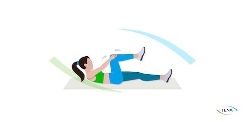 Beckenbodengymnastik Übung 3 liegend