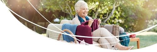 žena pri pletení