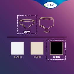 TENA Silhouette Übersicht –Dies ist ein schwarzes, hüfthohes Höschen