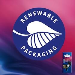 L'emballage en papier des protège-slips TENA Silhouette est fabriqué en fibres 100% renouvelables.