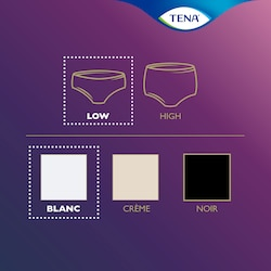 TENA Silhouette range product overview – this is a low waist underwear in white