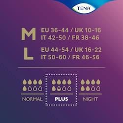 Podrás escoger entre diferentes tallas y niveles de absorción de losproductos TENA Silhouette