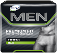 TENA MEN Premium Fit Protective Underwear Pack shot
