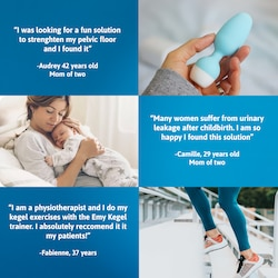 Women who use Emy by TENA Kegel trainer experience progress and are very satisfied