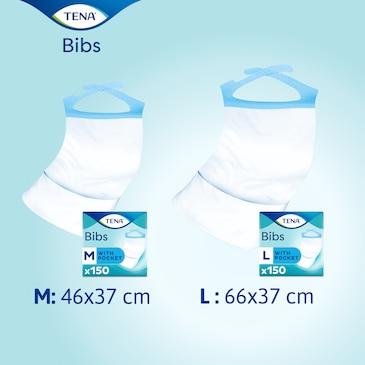 Podbradníky pre dospelých TENA sú k dispozícii v strednej a veľkej veľkosti