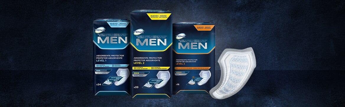 Especialmente diseñados para la incontinencia masculina y las pérdidas de orina