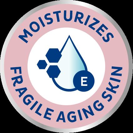 TENA ProSkin Moisturizing mitrinošie produkti vecu cilvēku trauslajai ādai— ikdienas ādas aprūpe urīna nesaturēšanas gadījumā