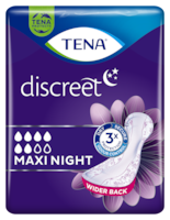 TENA Discreet Maxi Night | bind for urinlekkasje om natten for kvinner