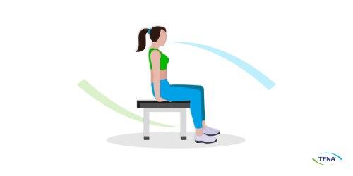 Beckenbodenübung 2 Die Sitzbeinhöcker zusammenziehen